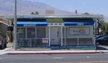 Sunshine Cafe location, 36815 Cathedral Canyon